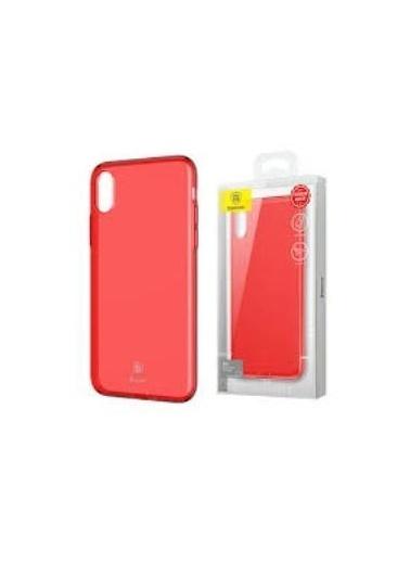 Baseus Baseus Iphone X Ultra Slim  Koruyucu Kılıf Kırmızı